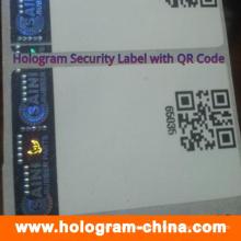Etiquetas personalizadas do holograma da Anti-Falsificação com impressão do código de Qr