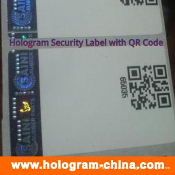 Pegatinas de holograma de seguridad con impresión de código Qr