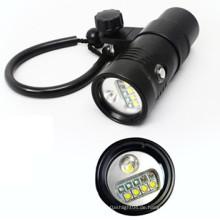 Tauch-Taschenlampe Rot / UV / SOS / Wide / Spot Licht Unterwasser Tauchen Fackel Video Beleuchtung