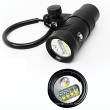 Linterna de buceo Rojo / UV / SOS / Wide / Spot luz submarina buceo antorcha de iluminación de vídeo