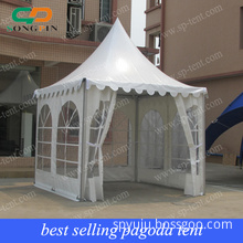 PVC Pagoda Tent with Sidewalls and Windows