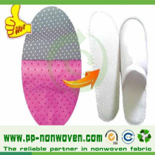 PP + PVC DOT beschichtetes Anti-Rutsch-Nonwoven für Slipper