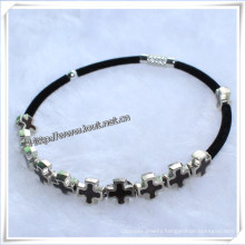 Religious Bangle Cross Alloy Beads Wrap Around Bracelet (IO-CB112)