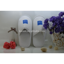 cheap white washable soft personalized close toe hotel slipper
