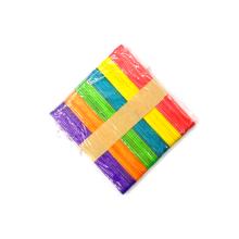 Factory sale 114mm*10mm*2mm 50pcs/bag Multi-Color Craft Sticks Colorful Wooden Craft Sticks Ice cream Sticks for kid