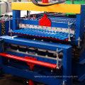 Full Automatic Gold Supplier Hot Sale Dupla Camada Painel Trapezoidal Ondulado IBR Passo Folha De Telha Rolo Dá Forma À Máquina
