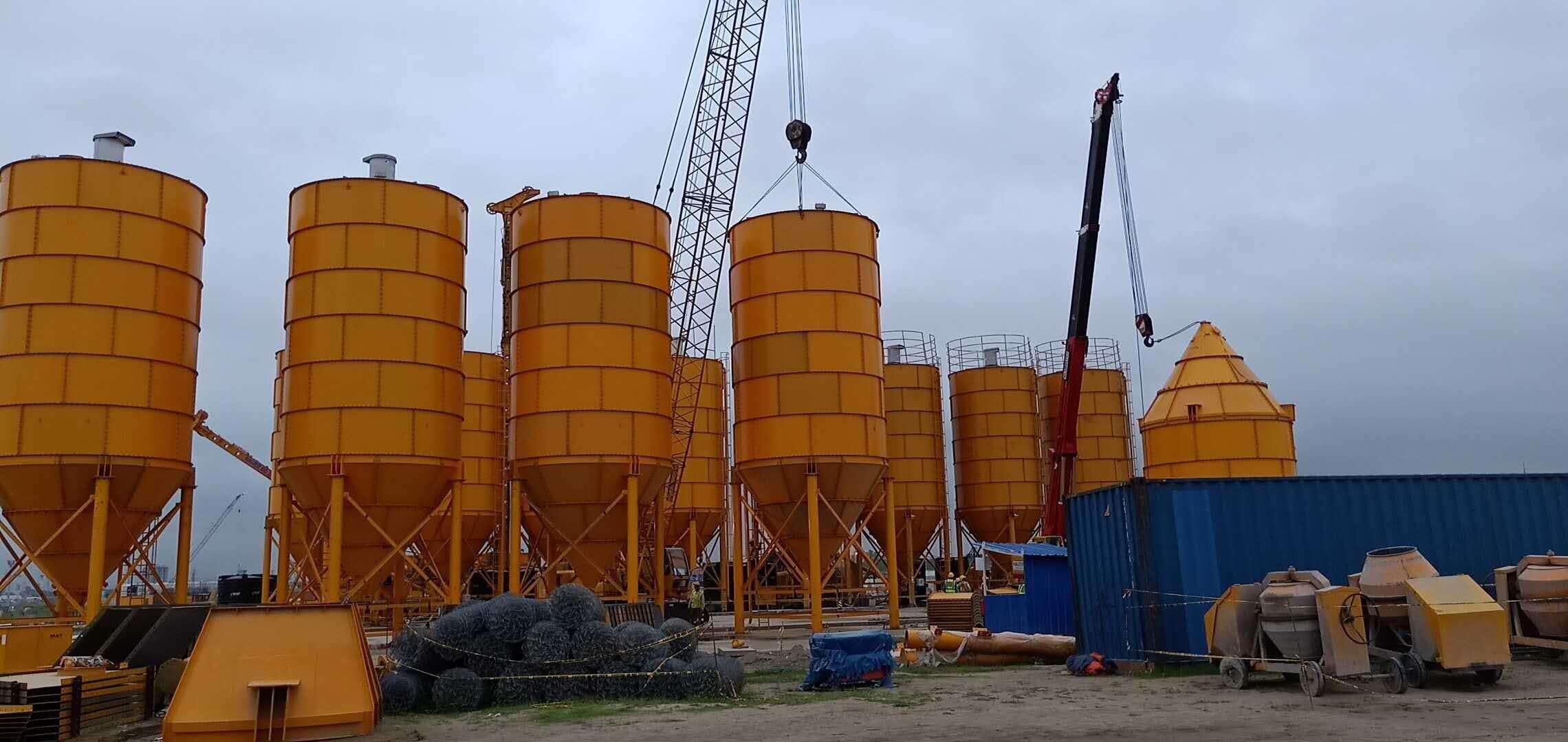 1000ton bolted cement silo/ Bulk Powder Storage fly ash silo price
