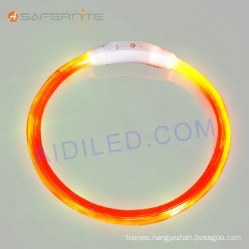 Pvc Water Resistance Glow Luminous Led Dog Collar