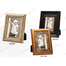 Antique Wooden Photo Frame with Gesso and Foil