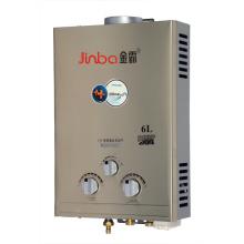 6L 7L Niedriger Wasserdruck-Rauchabzugs-Sofort-Gas-Warmwasserbereiter