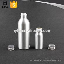 50ml 65ml 100ml empty spray silver color aluminum bottle