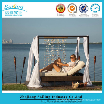 New Style Rattan Outdoor Rattan Outdoor Furniture Sunbed