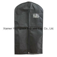 Custom Printed Black Non-Woven PP Travel Suit Bag for Men