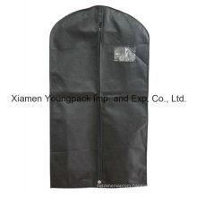 Custom Printed Black Non-Woven PP Travel Suit Bag for Men