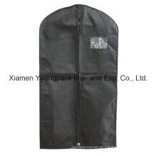 Personalizado impresso preto não tecido PP viagem terno saco para homens