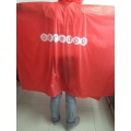 Poncho poket Red Stock dengan logo