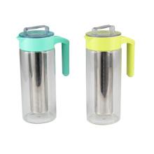 Cafetière en verre en plastique avec filtre