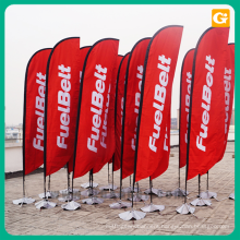 Wholesale custom design swooper feather flag 2.8m beach flag