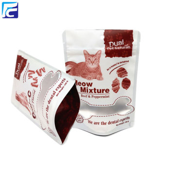 Custom ziplock heat seal plastic cat food bag