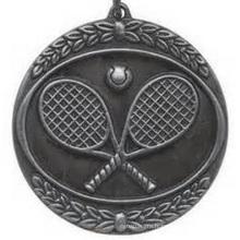 Médaille de finition en argent antique sur mesure avec ruban