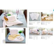 Изготовление полотенец для лица с вышивкой из белого хлопка Terry Cotton на заказ