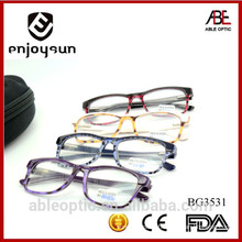 2015 colored students fashion acetate hand made spectacles optical frames eyewear eyeglasses
