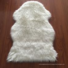 Absorbant logo lavable cheveux longs en peau de mouton tapis