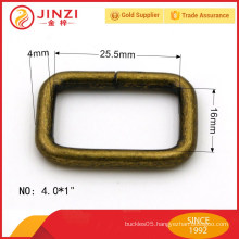 ANTI-BRASS square rings iron metal accessories for bags