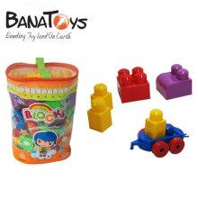58 peças brinquedo blocos para bebê, plástico e colorido