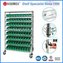NSF Metal Bin Display Shelving Rack for Hospital/Drugstore