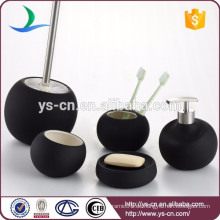 Keramik modern runde Bad Zubehör schwarz