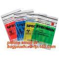 biohazard specimen zipper bag, Zipper Biohazard specimen packaging bag with document pouch, Ziplock Biohazard Specimen Transport