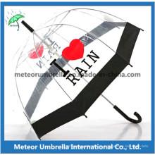 Transparenter PVC-Regenschirm / klarer Regenschirm / Luftblasen-Regenschirm / Plastikregenschirm