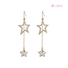 97414 xuping cristaux de bijoux en or couleur 18K de swarovski élégantes boucles d'oreilles pendantes pour femmes