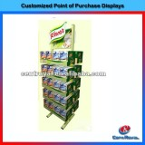 floor Supermarket retail metal socks display stands