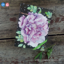 Flower Cover Moleskine Notebook with Elastic Band (XL-64K-LP-01)