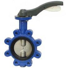 Válvula de mariposa de la abrazadera sanitaria del acero inoxidable (bastidor de inversión)