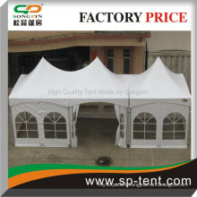 Bridal preparation tensioned tents 10x30ft in a row consisting of one 3x6m and one 3x3m tents