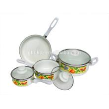 Ensembles de casseroles antiadhésifs en émail