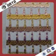 Muitas cores frisadas Fralda de borracha cortina para cortina