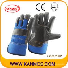 Темная ткань из натуральной кожи Кожаная ручная безопасность Промышленные рабочие перчатки (310044)