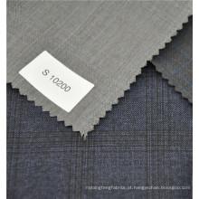 Inglês selvage luz cor cinza estilo de olho de pássaro de lã e poliéster mistura de tecido para a mulher terno 2017
