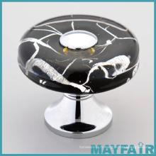 2016 Le mobilier en cristal populaire gère le bouton de porte en verre de diamant Le verre par l'intérieur