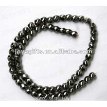 """8x8MM Loose Magnetic Hematite 6Faced Twist Beads 16"""""""
