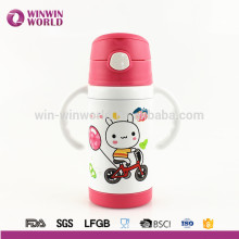 Chlidren Double Wall Stainless Steel Thermos Flasks Bottle With Sucker