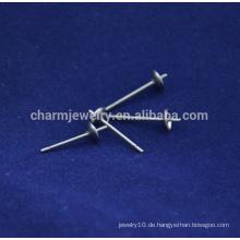BXG040 316/304 Silver Tone Edelstahl Ohrringe mit Backings Ohrringe Findings Schmuck machen