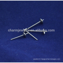 BXG040 316/304 Silver Tone Stainless Steel Earrings with Backings Earrings Findings Jewelry making