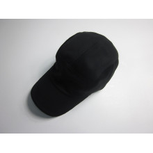 Men Black 5 Panel Polyester Mesh Promotional Cap