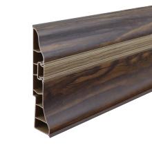 Plastic Skirting board, PVC Baseboard, PVC Plinth with aluminum strip
