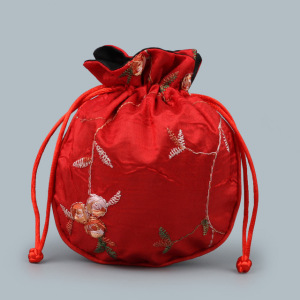 Fancy Silk Lingerie pouch With Logo Embroideried